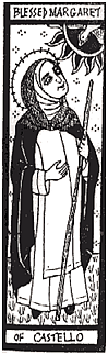 black and white drawing of little margaret